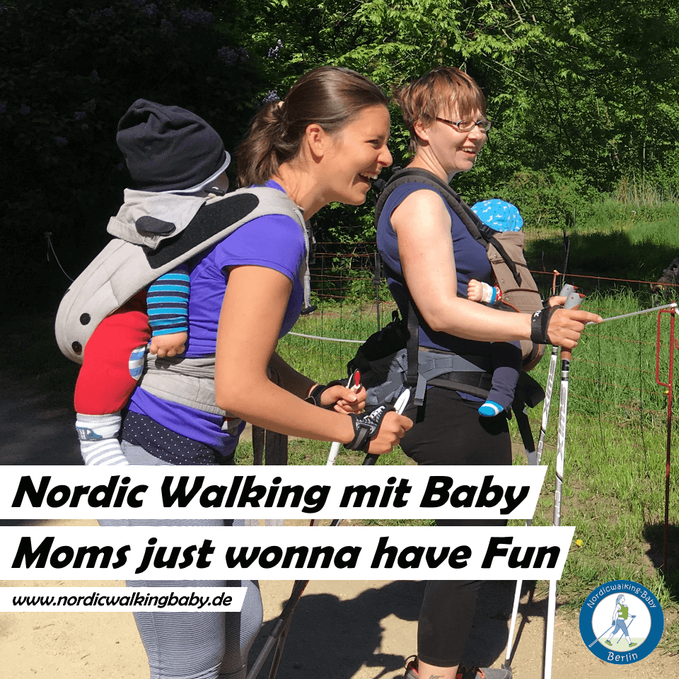 Motiv 02 Teilnehmerinnen Nordic Walking - Baby - Fitness Sport - Berlin