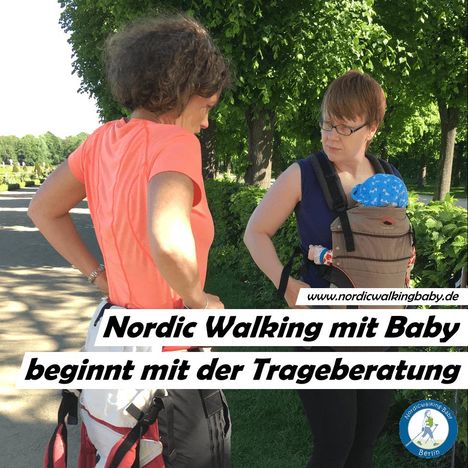 Motiv 03 Teilnehmerinnen Nordic Walking - Baby - Fitness Sport - Berlin